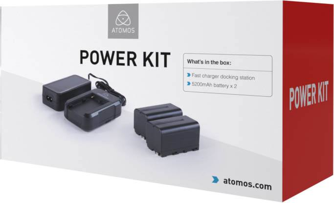 Atomos Power Kit - ATOMPWRKT1 - batteries and charger