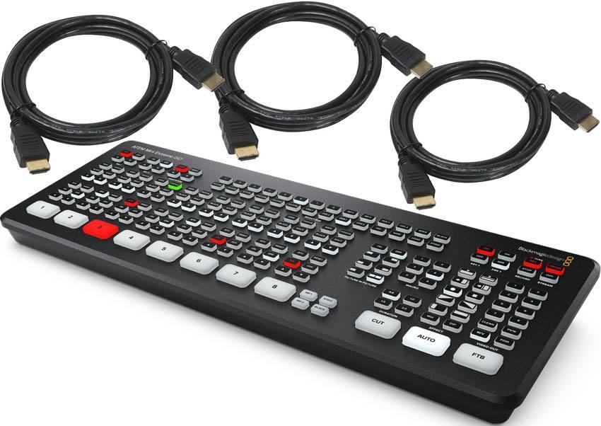 Blackmagic Design ATEM Mini Extreme ISO - SWATEMMINICEXTISO + HDMI Cables