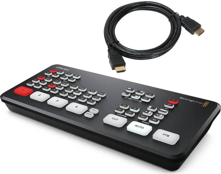 Blackmagic Design ATEM Mini - SWATEMMINI + Free HDMI Cable