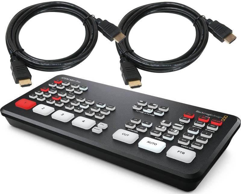 Blackmagic Design ATEM Mini Pro - SWATEMMINIBPR + HDMI Cables