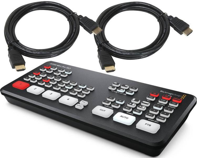 Blackmagic Design ATEM Mini Pro ISO - SWATEMMINIBPRISO + HDMI Cables