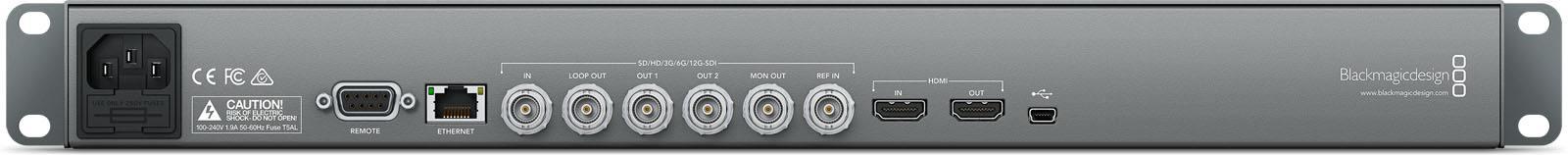 Blackmagic Design HyperDeck Studio 12G - HYPERD/ST/12G - Rear Connections