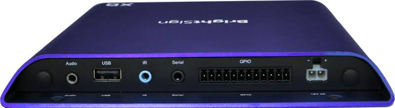 BrightSign XD1034 4K Digital Signage Player - rear