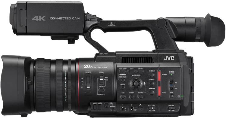 GY-HC500U Connected Cam Handheld Camcorder - Left Side