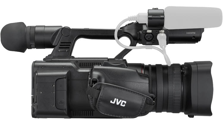 GY-HC500U Connected Cam Handheld Camcorder - Right Side