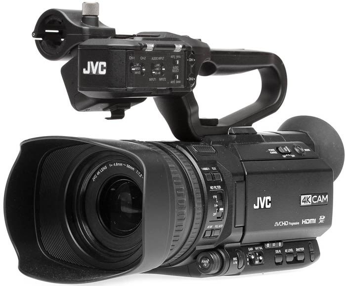 GY-HM180U 4kCam Compact Handheld Camcorder with 12x Lens