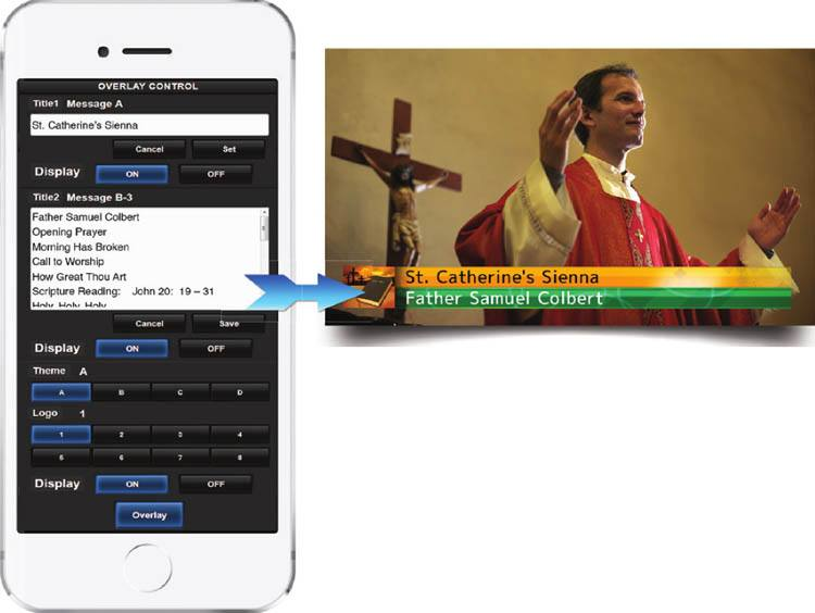 GY-HM250HW House of Worship Streaming Camcorder - iPad