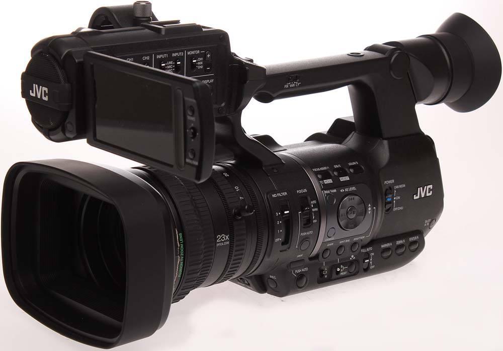 GY-HM600U ProHD Handheld Camcorder - Angle
