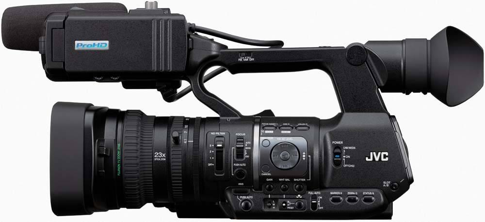 GY-HM600U ProHD Handheld Camcorder - Side