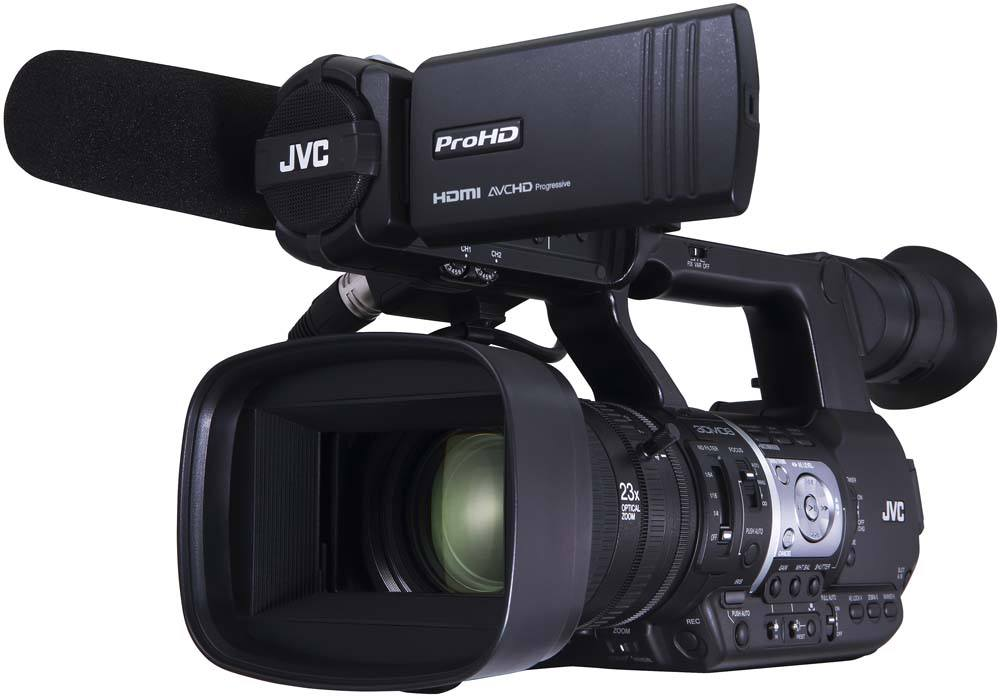 GY-HM620U ProHD Handheld Camcorder - Front Angle