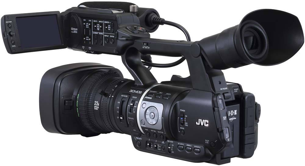GY-HM620U ProHD Handheld Camcorder - Rear