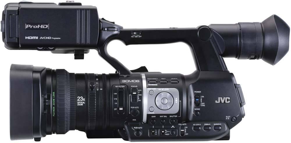 GY-HM620U ProHD Handheld Camcorder - Side