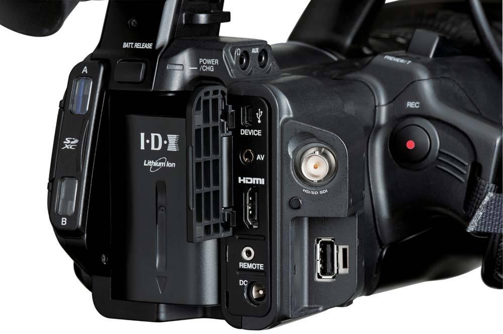 GY-HM650U ProHD Handheld Camcorder - Connectors