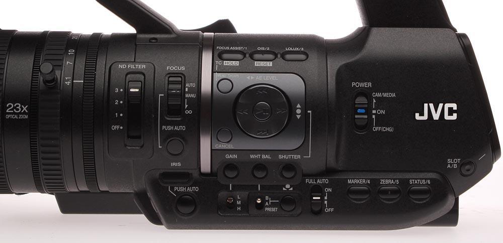 GY-HM650U ProHD Handheld Camcorder - Side