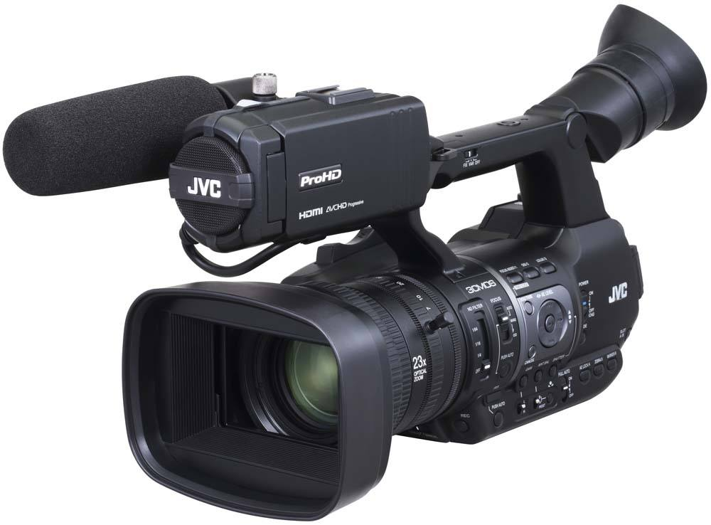 GY-HM660U ProHD Handheld Camcorder - Front