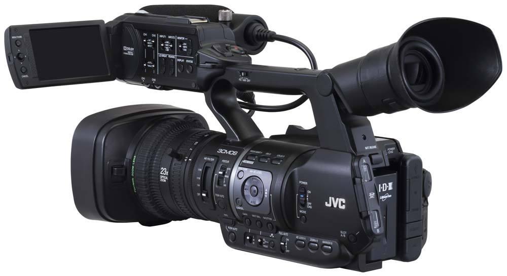 GY-HM660U ProHD Handheld Camcorder - Rear
