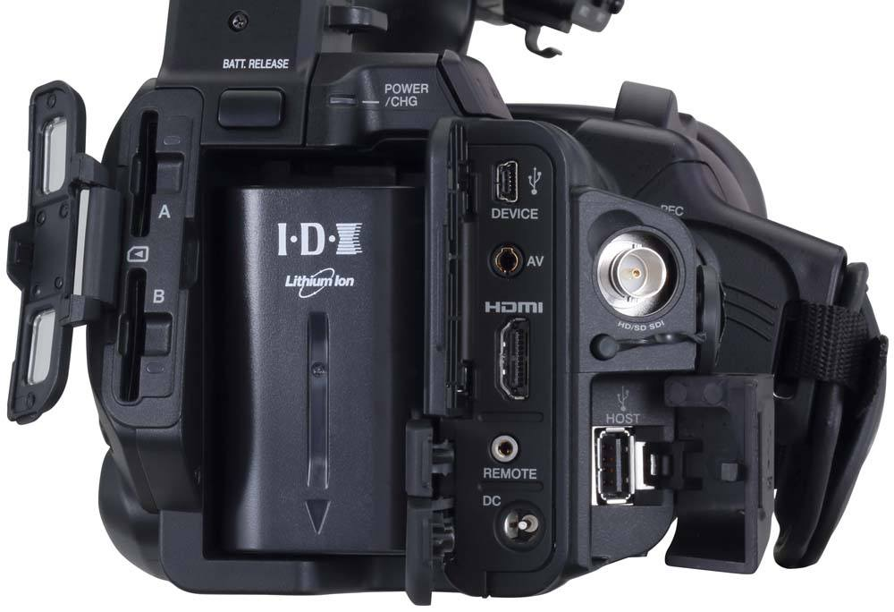 GY-HM660U ProHD Handheld Camcorder - Connections