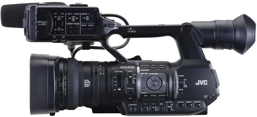 GY-HM660U ProHD Handheld Camcorder - Side