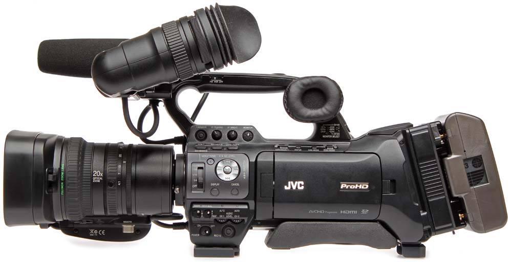 GY-HM850U ProHD Shoulder Camcorder - Left