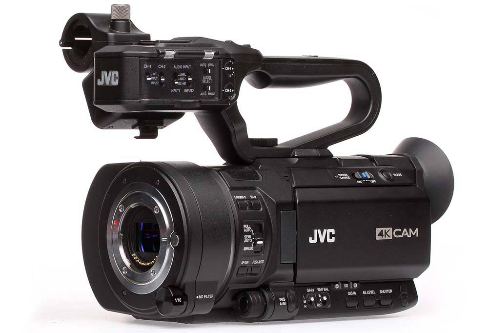 GY-LS300CHU 4kCAM Handheld Super 35 Camcorder - Front Angle