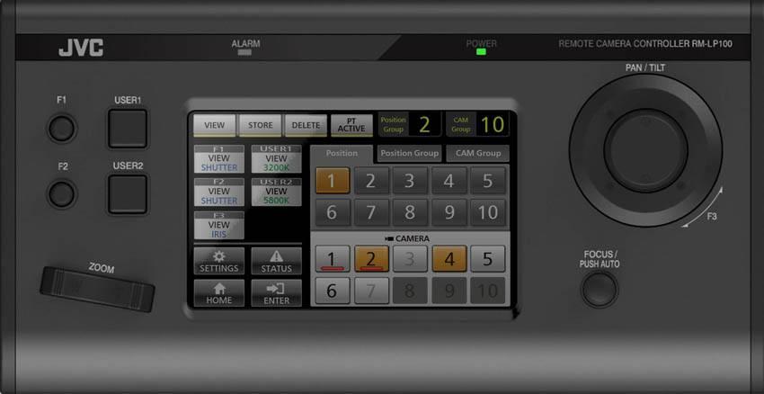 RM-LP100U - JVC PTZ Camera Controller - Top