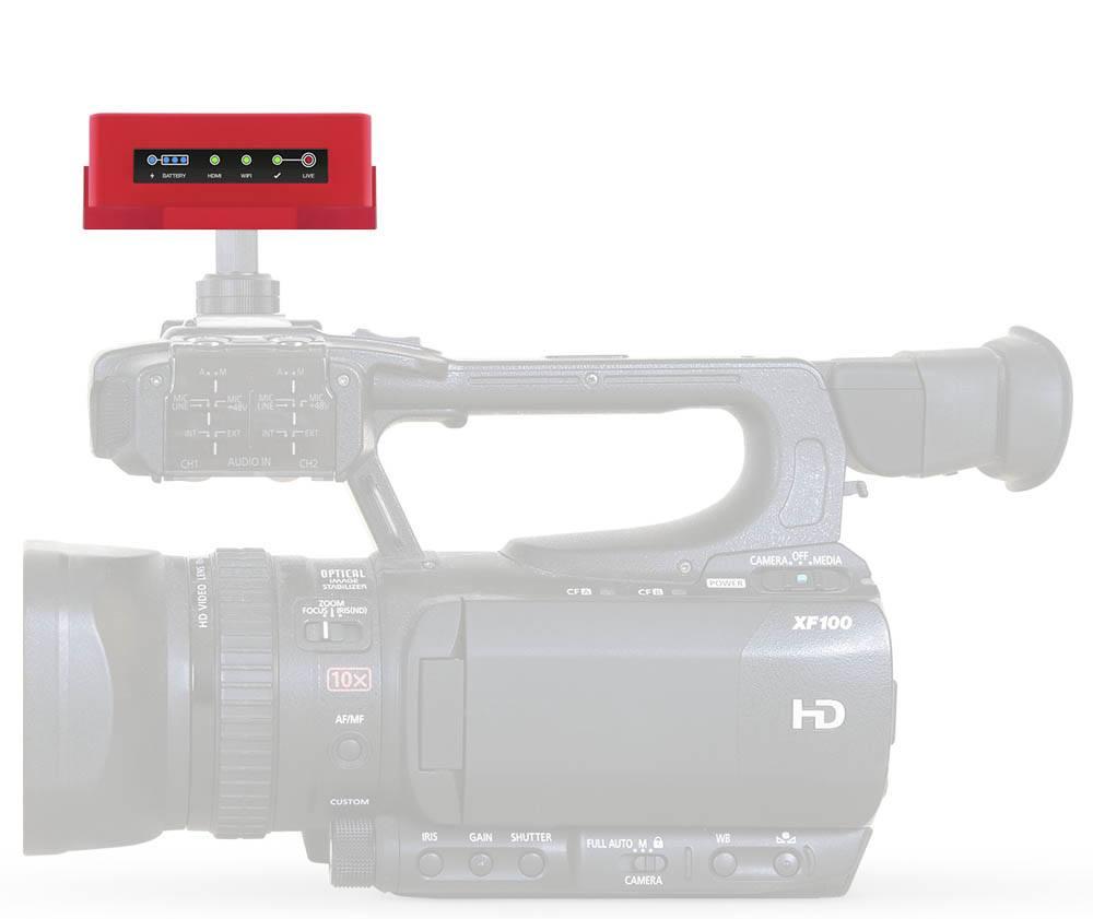 Livestream Broadcaster Mini - on camera