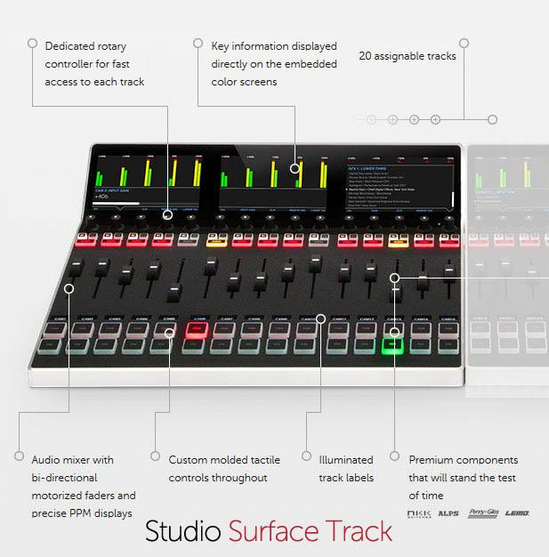 Livestream Studio Surface Track - features