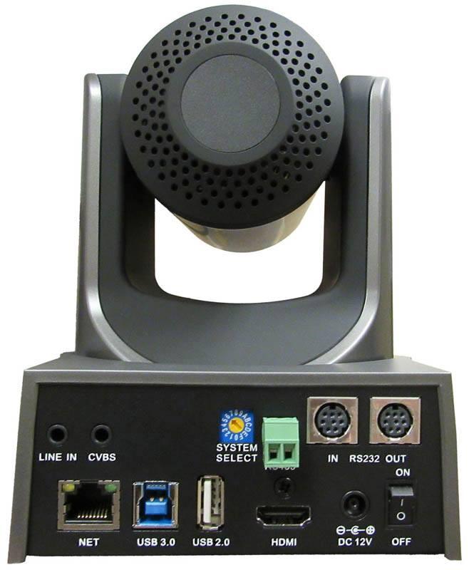 PTZOptics - 20X zoom - USB, HDMI, IP - PT20X-USB-GY-G2 - rear connectors