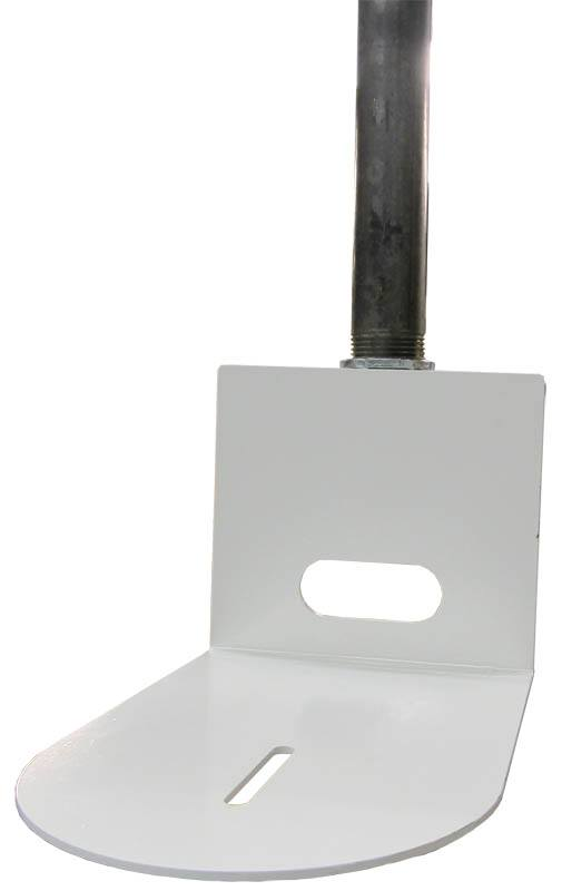 Ceiling Pole Mount (White)- HCM-1C-WH - pole not included