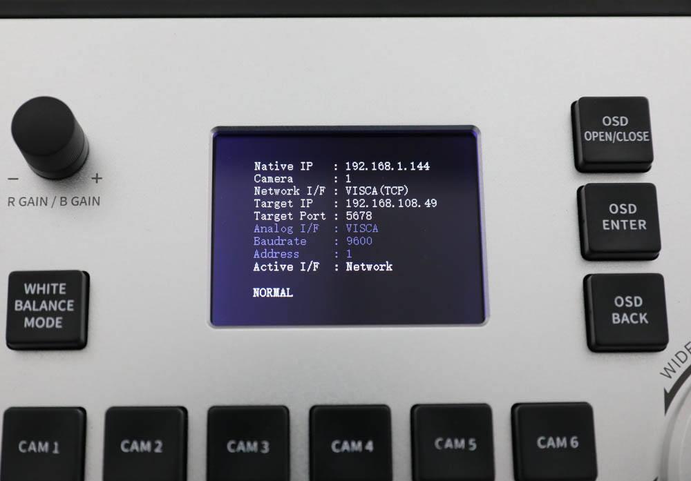 PTZOptics PTZ Joystick Controller G4 - PTZOptics-PTZJOY-G4 - LCD Status Screen
