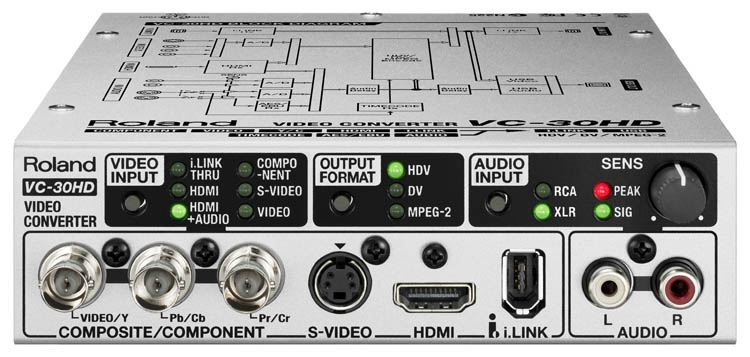 Roland VC-30HD - Video Streaming Converter - front connectors
