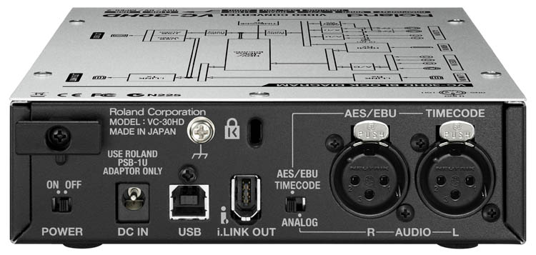 Roland VC-30HD - Video Converter Streaming - rear connectors