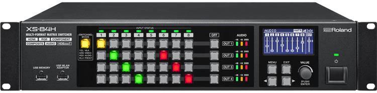 Roland XS-84H - 8-in x 4-out AV Matrix Switcher