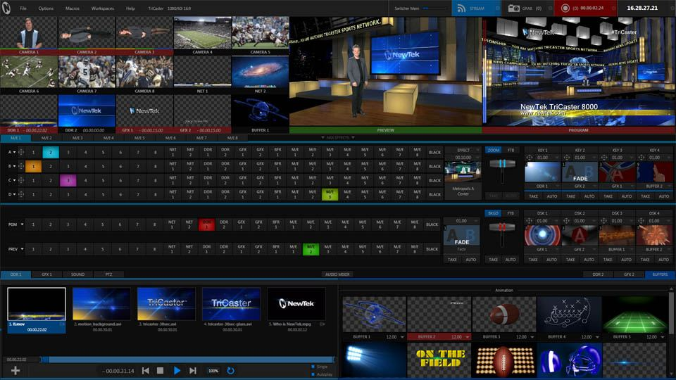 TriCaster 8000 - User Interface
