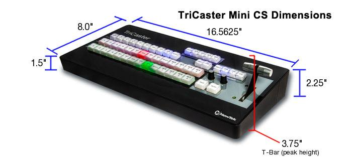 TriCaster Mini CS Control Surface - Dimensions
